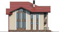 Проект бетонного дома 57-40 фасад