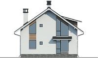 Проект бетонного дома 57-44 фасад