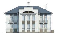 Проект бетонного дома 57-45 фасад