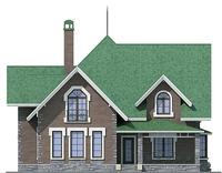 Проект бетонного дома 57-46 фасад