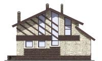 Проект бетонного дома 57-47 фасад