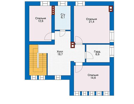 Проект бетонного дома 57-47 план