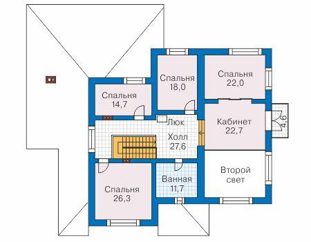 Проект бетонного дома 57-49 план