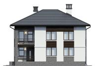 Проект бетонного дома 57-51 фасад
