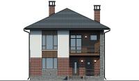 Проект бетонного дома 57-53 фасад