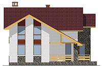 Проект бетонного дома 57-54 фасад