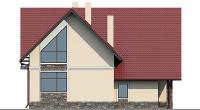 Проект бетонного дома 57-55 фасад