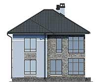 Проект бетонного дома 57-56 фасад