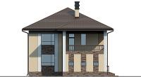Проект бетонного дома 57-61 фасад