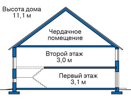 Проект бетонного дома 57-61 план