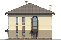 Проект бетонного дома 57-63 фасад