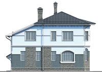 Проект бетонного дома 57-64 фасад