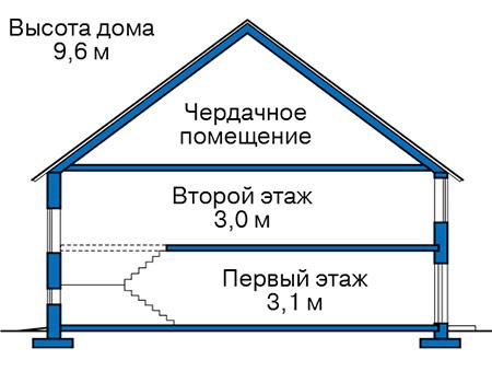 Проект бетонного дома 57-64 план