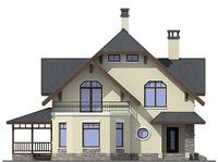 Проект бетонного дома 57-66 фасад
