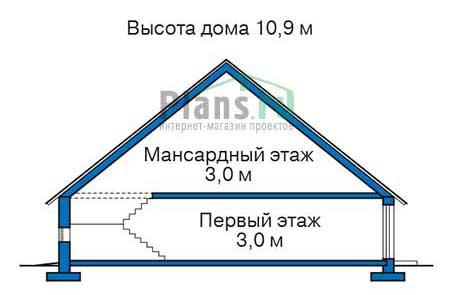 Проект бетонного дома 57-66 план