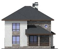 Проект бетонного дома 57-69 фасад