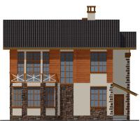 Проект бетонного дома 57-71 фасад