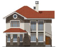 Проект бетонного дома 57-74 фасад