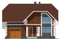 Проект бетонного дома 57-75 фасад