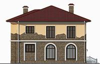 Проект бетонного дома 57-76 фасад