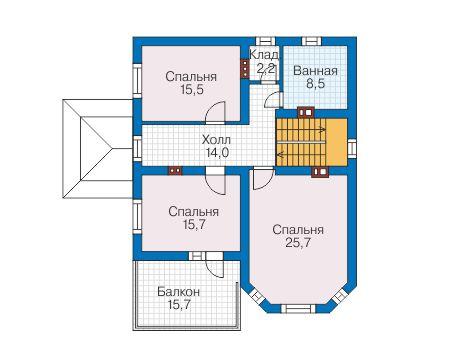 Проект бетонного дома 57-77 план