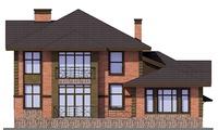 Проект бетонного дома 57-78 фасад
