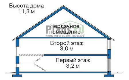 Проект бетонного дома 57-78 план