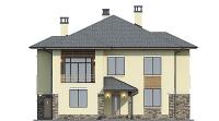 Проект бетонного дома 57-79 фасад