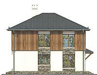 Проект бетонного дома 57-80 фасад