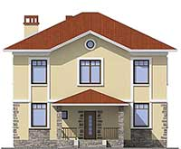 Проект бетонного дома 57-81 фасад