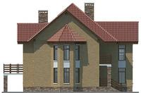 Проект бетонного дома 57-83 фасад