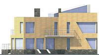 Проект бетонного дома 57-85 фасад