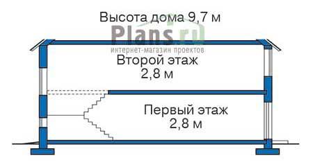 Проект бетонного дома 57-85 план
