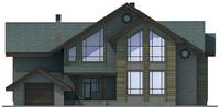 Проект бетонного дома 57-86 фасад
