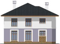 Проект бетонного дома 57-90 фасад