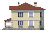 Проект бетонного дома 57-94 фасад