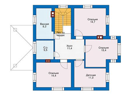 Проект бетонного дома 57-94 план