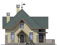 Проект бетонного дома 57-95 фасад