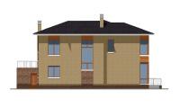 Проект бетонного дома 57-97 фасад