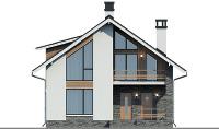 Проект бетонного дома 57-99 фасад