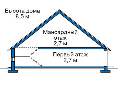 Проект бетонного дома 57-99 план