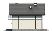 Проект бетонного дома 58-00 фасад