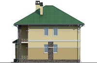 Проект бетонного дома 58-02 фасад