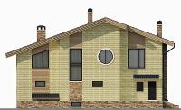Проект бетонного дома 58-04 фасад