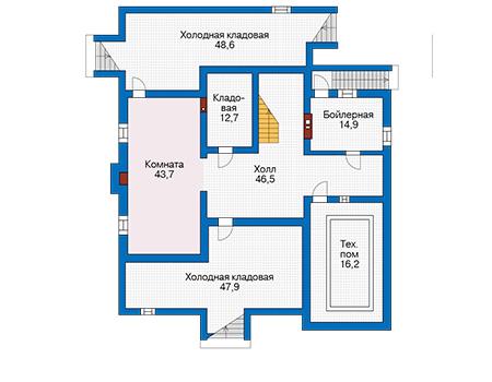 Проект бетонного дома 58-04 план