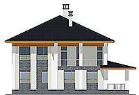 Проект бетонного дома 58-09 фасад