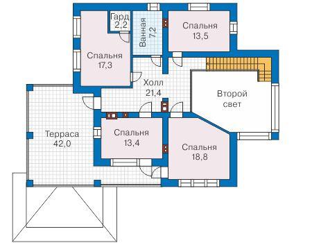 Проект бетонного дома 58-09 план