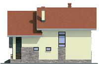 Проект бетонного дома 58-10 фасад
