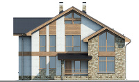 Проект бетонного дома 58-11 фасад