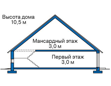 Проект бетонного дома 58-11 план